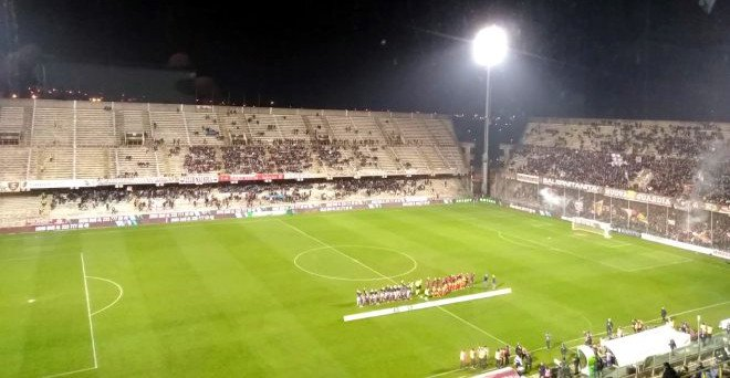 Stadio Arechi Salerno. Incontro Salernitana - Benevento
