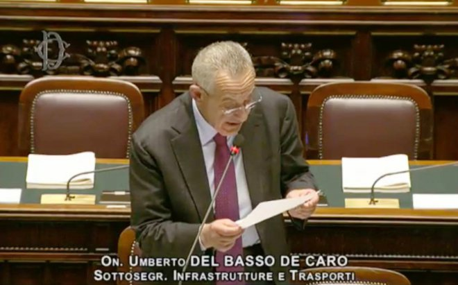 Umberto Del Basso De Caro, sottosegretario Ministero Infrastrutture e Trasporti