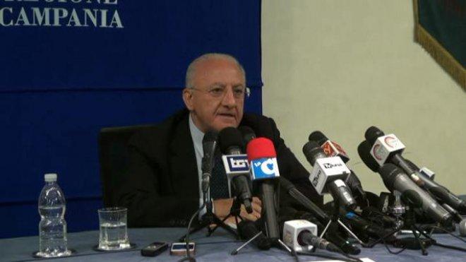 Regione Campania, il presidente della Regione Vincenzo De Luca