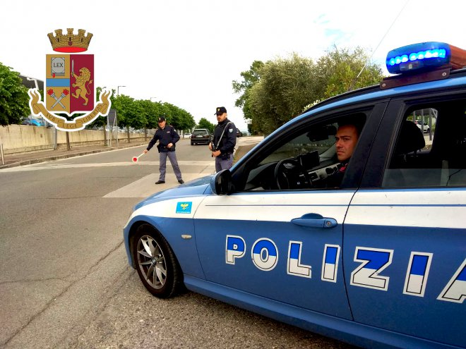 Telese Terme. Volante della Polizia