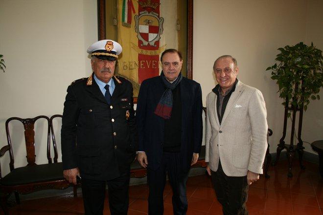 Giovanni Fantasia (primo da sinistra), Clemente Mastella e Bruno Fragnito