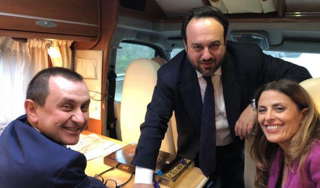 Carmine Valentino con Ettore Rosato e Assunta Tartaglione