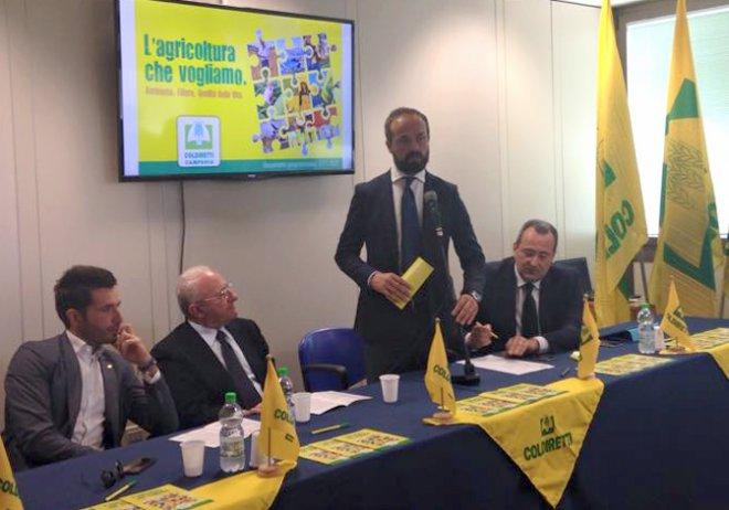 Il Governatore Vincenzo De Luca ed il presidente Regionale Coldiretti Masiello align=