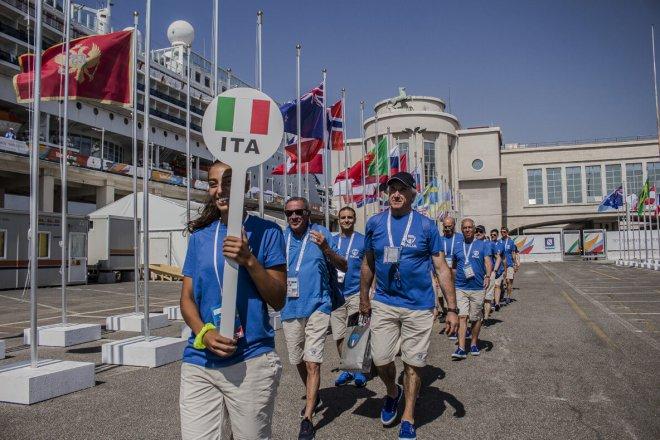 Universiade Napoli 2019. L'Italia alla cerimonia di benvenuto