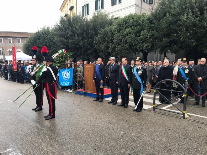 Benevento, Piazza Casrello, Cerimonia del 4 novembre 2018