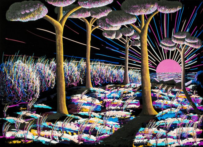 Alba al mare - opera di Luca Pugliese
