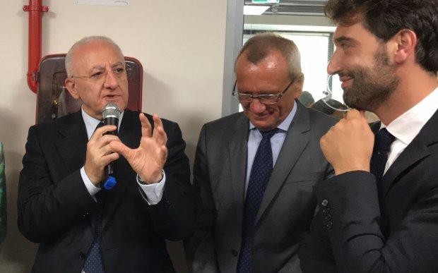 Vincenzo De Luca ed Erasmo Mortaruolo