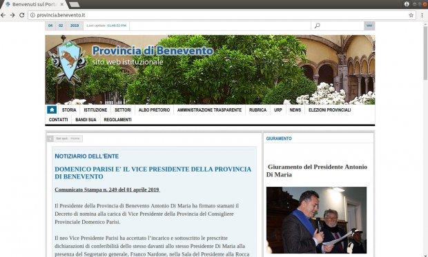 www.provincia.benevento.it - sito istituzionale della Provincia di Benevento