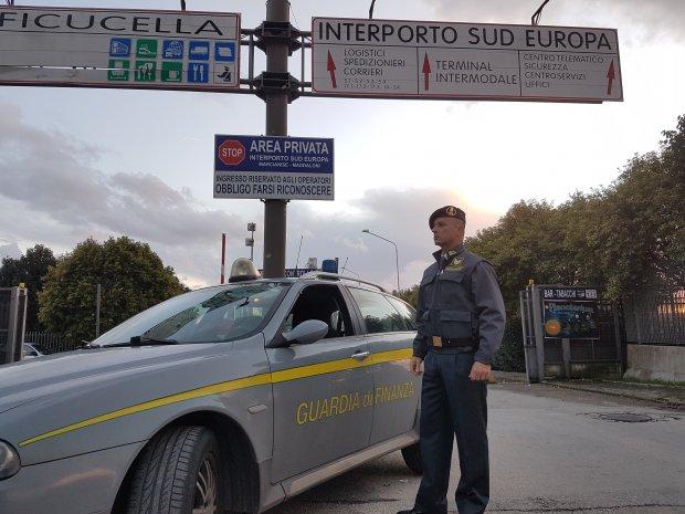 Guardia di Finanza di Caserta - Interporto di Marcianise.
