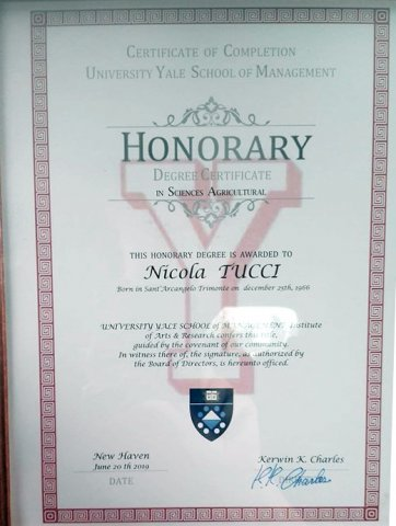 Laurea Honoris Causa a Nicola Tucci - Universita di Yale