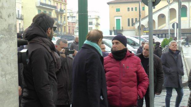 Mastella in Piazza Duomo