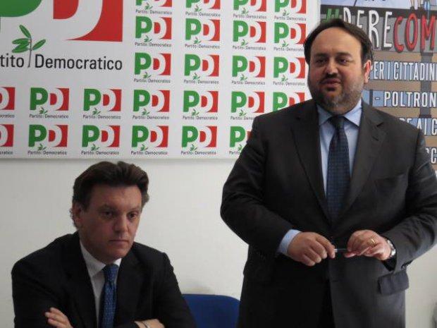 Del Vecchio e Valentino durante la conferenza stampa
