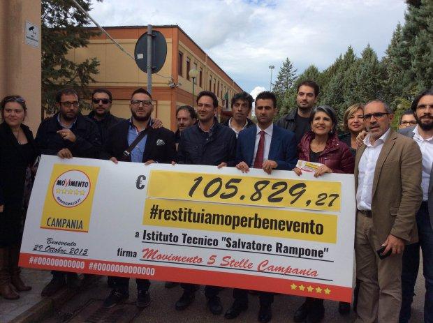Il vice presidente della Camera, Luigi Di Maio, visita il Rampone