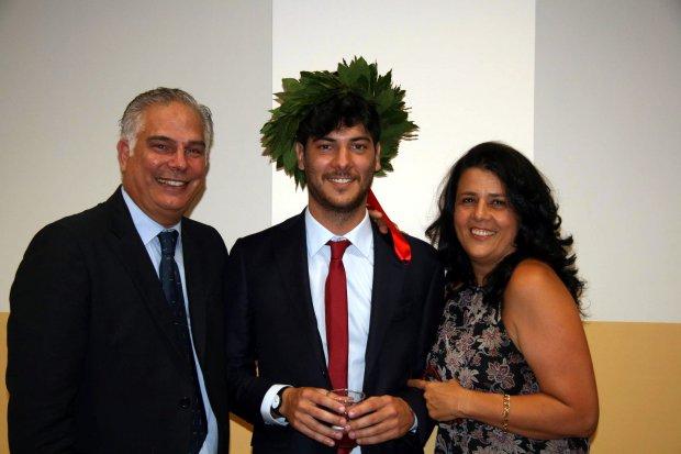 Luigi Salierno con papa' Gaetano e mamma Paola