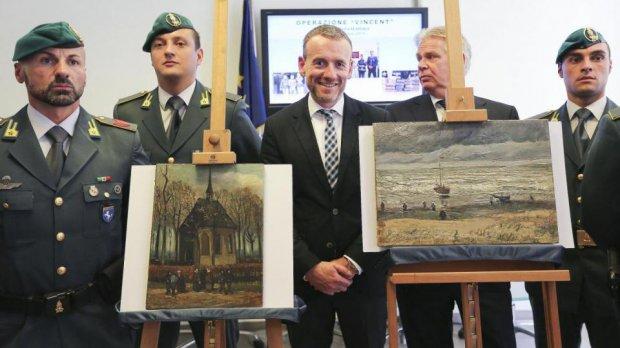 Guardia di Finanza. I quadri di Vincent Van Gogh rubati dalla camorra