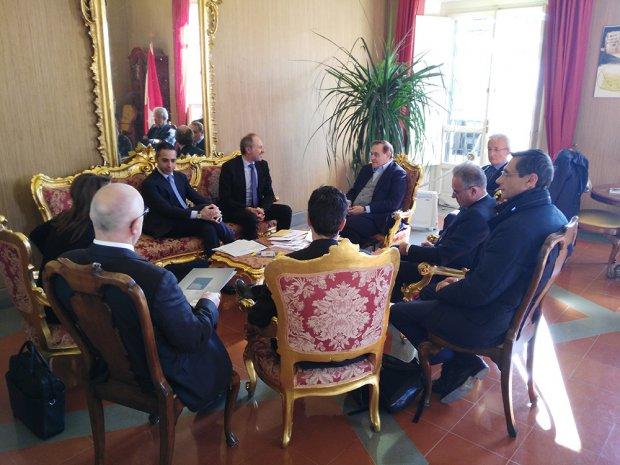 Incontro Mastella delegazione Enel