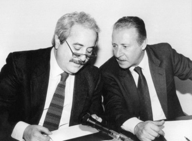 I giudici Giovanni Falcone e Paolo Borsellino