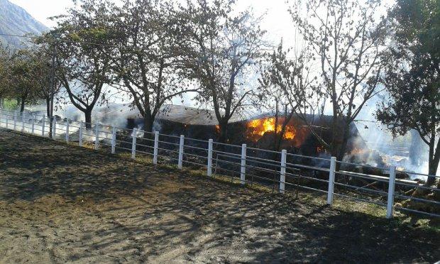 Incendio capannone Airola