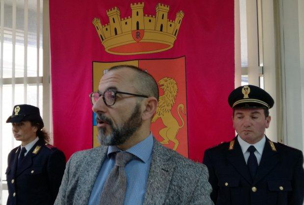 Il Questore di Benevento Giuseppe Bellassai