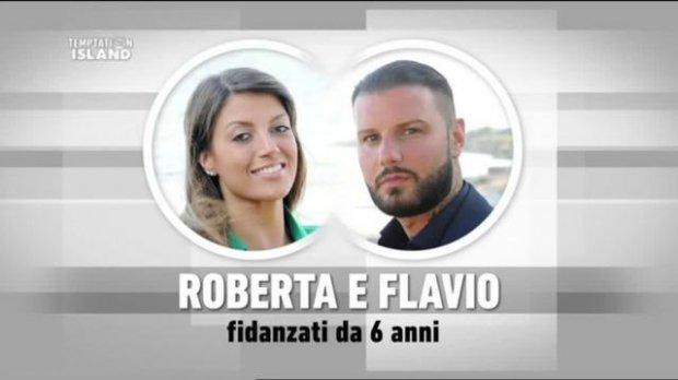 Flavio Zerella e Roberta Mercurio a Temptation Island  (foto wittytv.it)