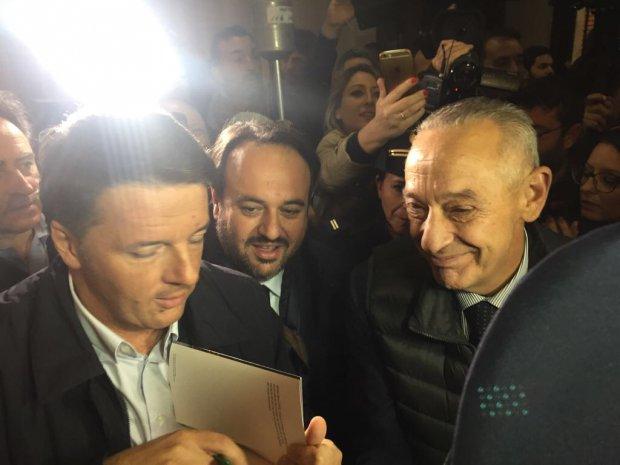 Matteo Renzi con Umberto del Basso De Caro