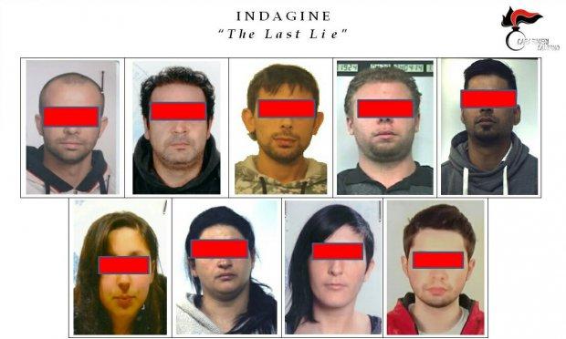 Carabinieri Salerno. Indagine The Last Lie: i 9 arrestati