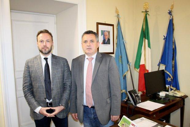 Antonio Di Maria e Vincenzo Testa (presidente dei Consulenti del lavoro della Provincia di Benevento)