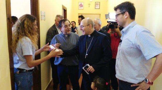 Visita di monsignor Felice Accrocca, Arcivescovo di Benevento, alla Cittadella della Carita'