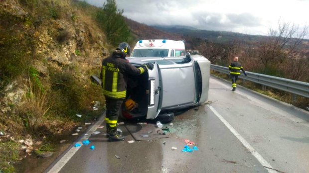 Incidente SP 12 Cusano Mutri Telese (7 marzo 2018)