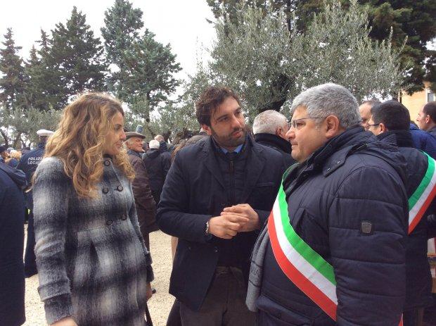 Il consigliere regionale Erasmo Mortaruolo a Pietrelcina