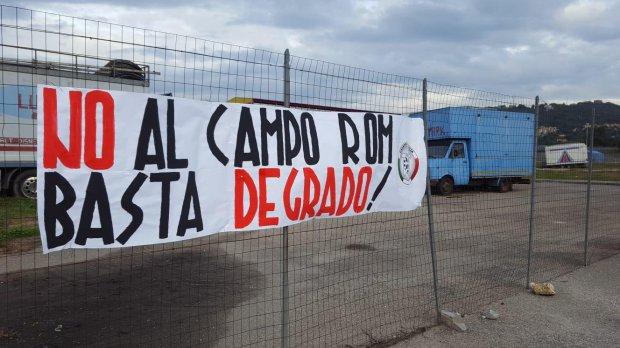 CasaPound campo rom