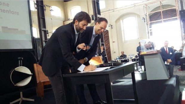 Il ministro Franceschini ed il presidente Coldiretti, Moncalvo