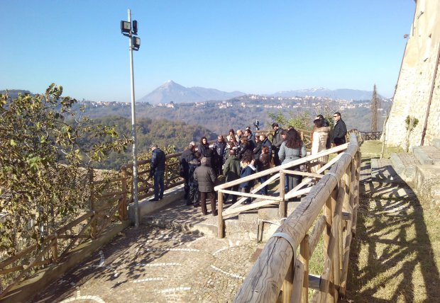 Visitatori al castello di Ceppaloni