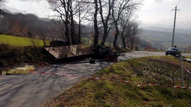 Montefusco (Avellino). Incidente agricolo in frazione S. Egidio