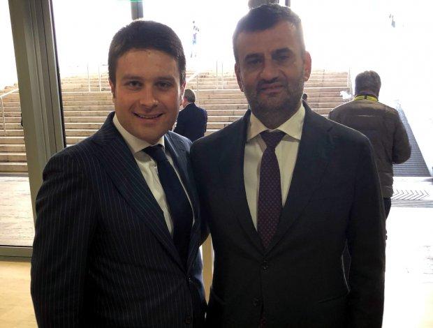 Francesco Rubano con il sindaco di Bari Antonio Decaro