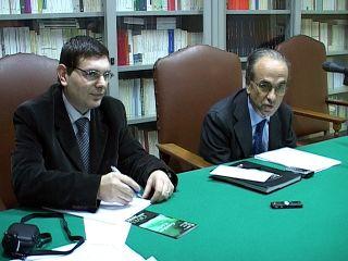 Da sinistra, Ettore Rossi e Carlo Borgomeo