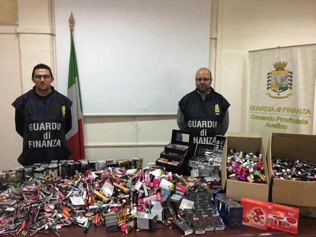 Operazione Make-Up della Guardia di Finanza di Avellino