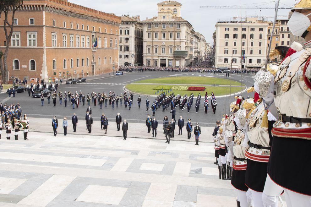 Roma. 2 giugno 2021. Cerimonia per la Festa della Repubblica