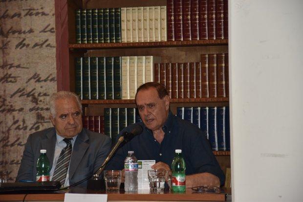 Marco Nanni e Clemente Mastella alla presentazione del libro - Il curioso giornalista
