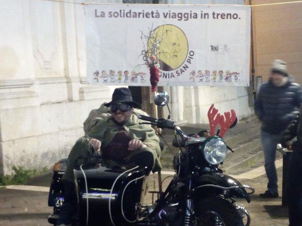 Benevento. La Befana arriva in sidecar