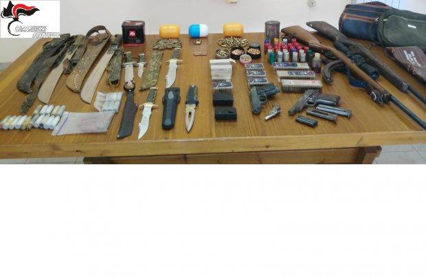 arsenale in casa di un agricoltore: arrestato