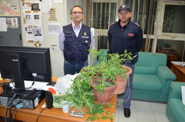 Ragalna, scoperta una piantagione di marijuana sotterranea
