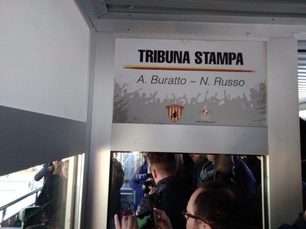 Inaugurazione Tribuna stampa