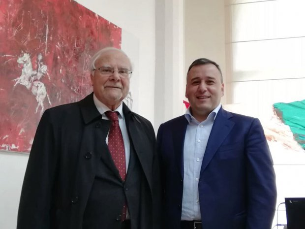 Il presidente Asi Luigi Barone e il sindaco di San Giorgio del Sannio Mario Pepe
