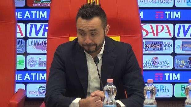 Benevento, mister De Zerbi: