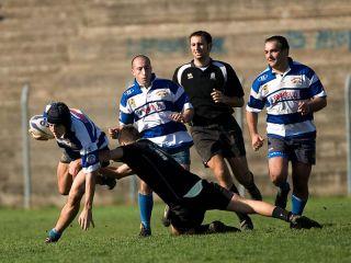 Antares Rugby Benevento: fase di gioco di una partita di serie C