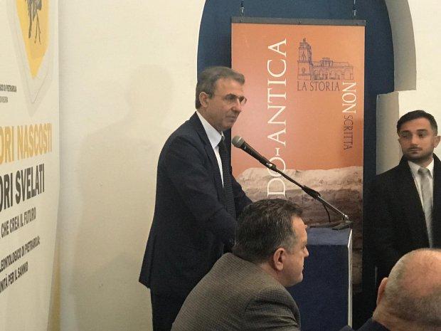 Sergio Costa, ministro dell'Ambiente e della tutela del territorio e del mare in visita a Benevento