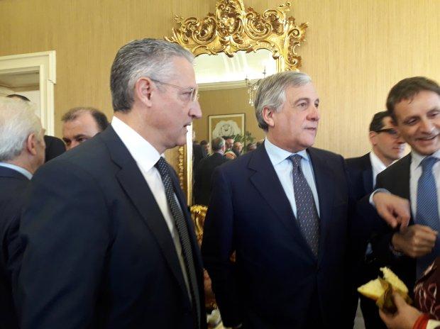 Filippo Liverini e Antonio Tajani