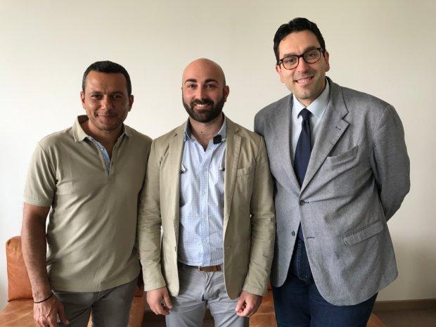 Donato Scarinzi, Lino Fiscarelli e Paolo Palumbo