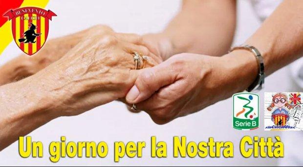 Benevento calcio visita gli anziani della casa di riposo for Piccoli piani di casa per gli anziani